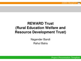 REWARD Trust (Rural Education Welfare and Resource Development Trust)