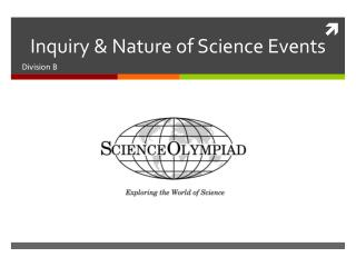Inquiry  Nature of Science Events