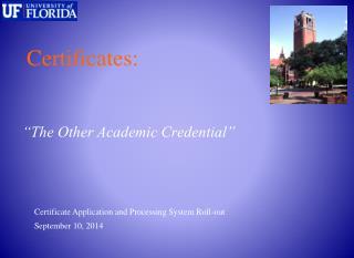 Certificates: