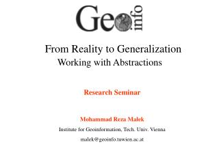 From Reality to Generalization Working with Abstractions