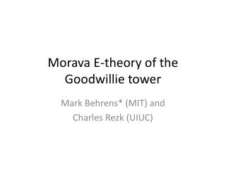 Morava E-theory of the  Goodwillie  tower