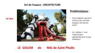 Art de l'espace : ARCHITECTURE