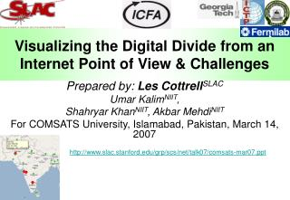 Visualizing the Digital Divide from an Internet Point of View & Challenges