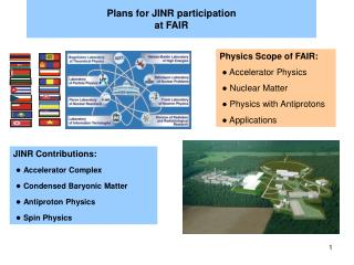 Plans for JINR participation  at FAIR