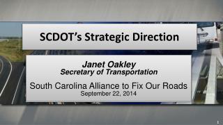 SCDOT's Strategic Direction