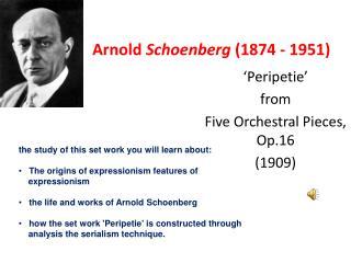 Arnold  Schoenberg  (1874 - 1951)
