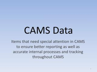 CAMS Data