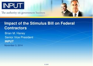 Impact of the Stimulus Bill on Federal Contractors