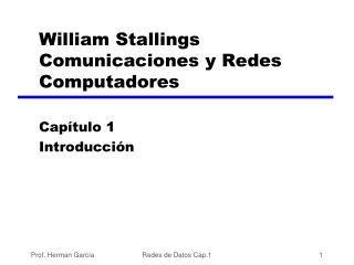 William Stallings Comunicaciones y Redes Computadores