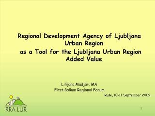Regional Development Agency of Ljubljana Urban Region
