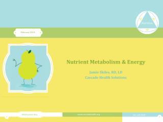 Nutrient Metabolism & Energy