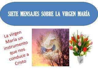 La virgen María un instrumento que nos conduce a Cristo