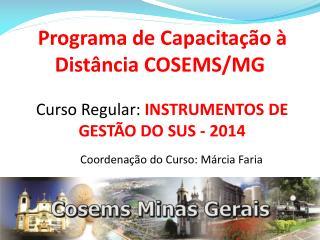 Programa de Capacitação à Distância COSEMS/MG