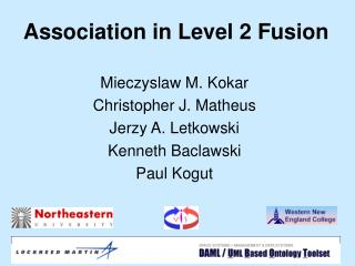 Association in Level 2 Fusion