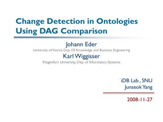 Change Detection in  Ontologies  Using DAG Comparison