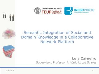 Semantic Integration of Social and Domain Knowledge in a Collaborative Network Platform