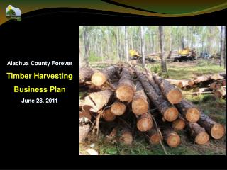 Alachua County Forever Timber Harvesting  Business Plan June 28, 2011