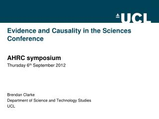 Evidence and Causality in the Sciences Conference
