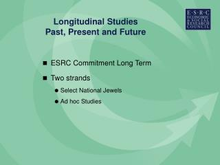 Longitudinal Studies Past, Present and Future