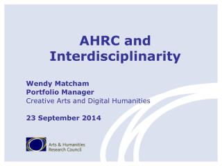 AHRC and  Interdisciplinarity