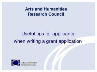 Useful tips for applicants when writing a grant application