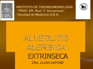 ALVEOLITIS  ALERGICA