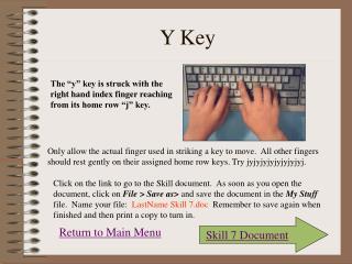 Y Key