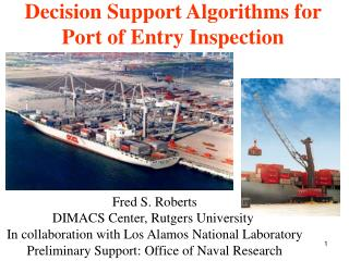 Decision Support Algorithms for Port of Entry Inspection