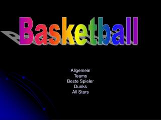 Allgemein Teams Beste Spieler Dunks All Stars