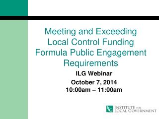 Meeting and Exceeding  Local Control Funding Formula Public Engagement Requirements
