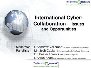 International Cyber-Collaboration –  Issues and Opportunities