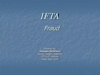 IFTA Fraud