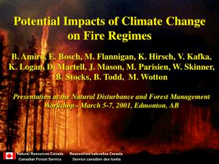Potential Impacts of Climate Change on Fire Regimes