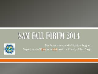 SAM FALL FORUM 2014