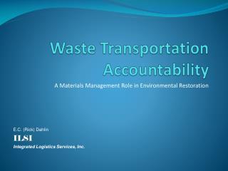 Waste Transportation Accountability