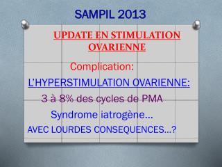 UPDATE EN STIMULATION OVARIENNE