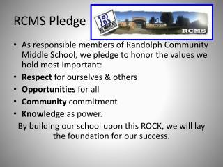 RCMS Pledge