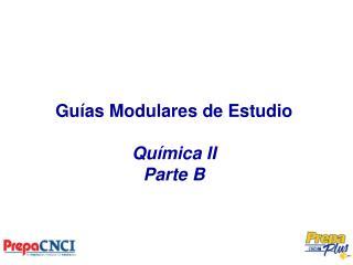 Guías Modulares de Estudio Química II Parte B