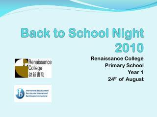 Back to School Night 2010
