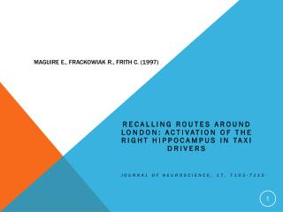 Maguire E.,  Frackowiak  R., Frith C. (1997)