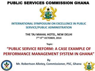 INTERNATIONAL SYMPOSIUM ON EXCELLENCE IN PUBLIC SERVICE/PUBLIC ADMINISTRATION