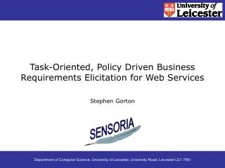 Task-Oriented, Policy Driven Business Requirements Elicitation for Web Services