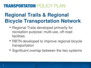 Regional Trails & Regional Bicycle Transportation Network