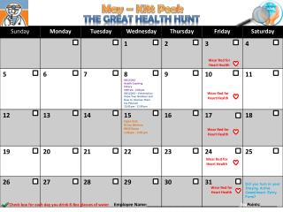 The Great Health Hunt
