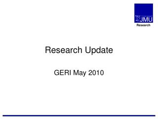 Research Update