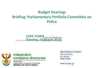 CAPE TOWN Tuesday, 16 March 2010