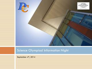 Science Olympiad Information Night