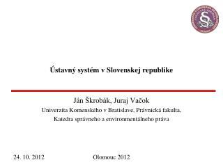 Ústavný systém v Slovenskej republike
