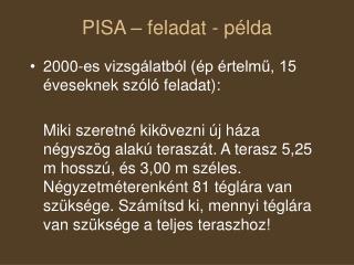 PISA – feladat - példa