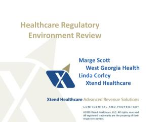 Healthcare Regulatory      Environment Review